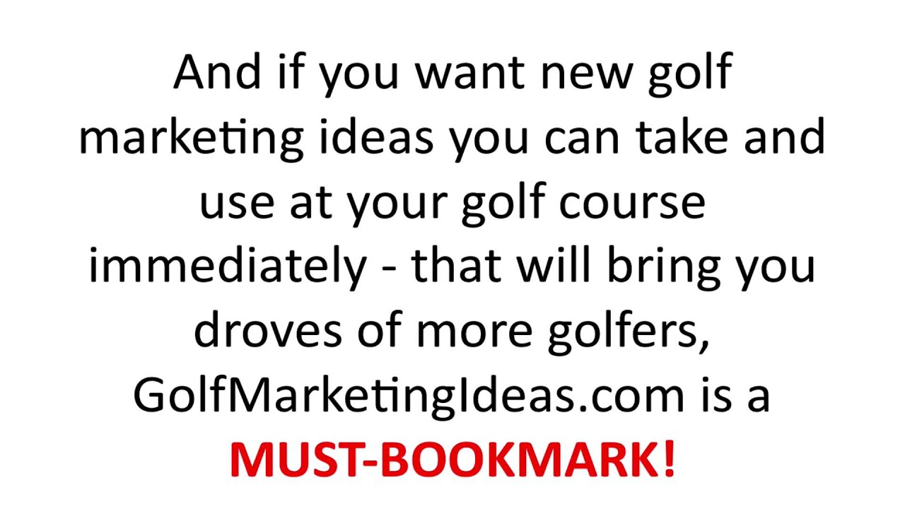 Golf Quotes About Life Golf Marketing Ideas Golf Course Marketing Ideas  Youtube