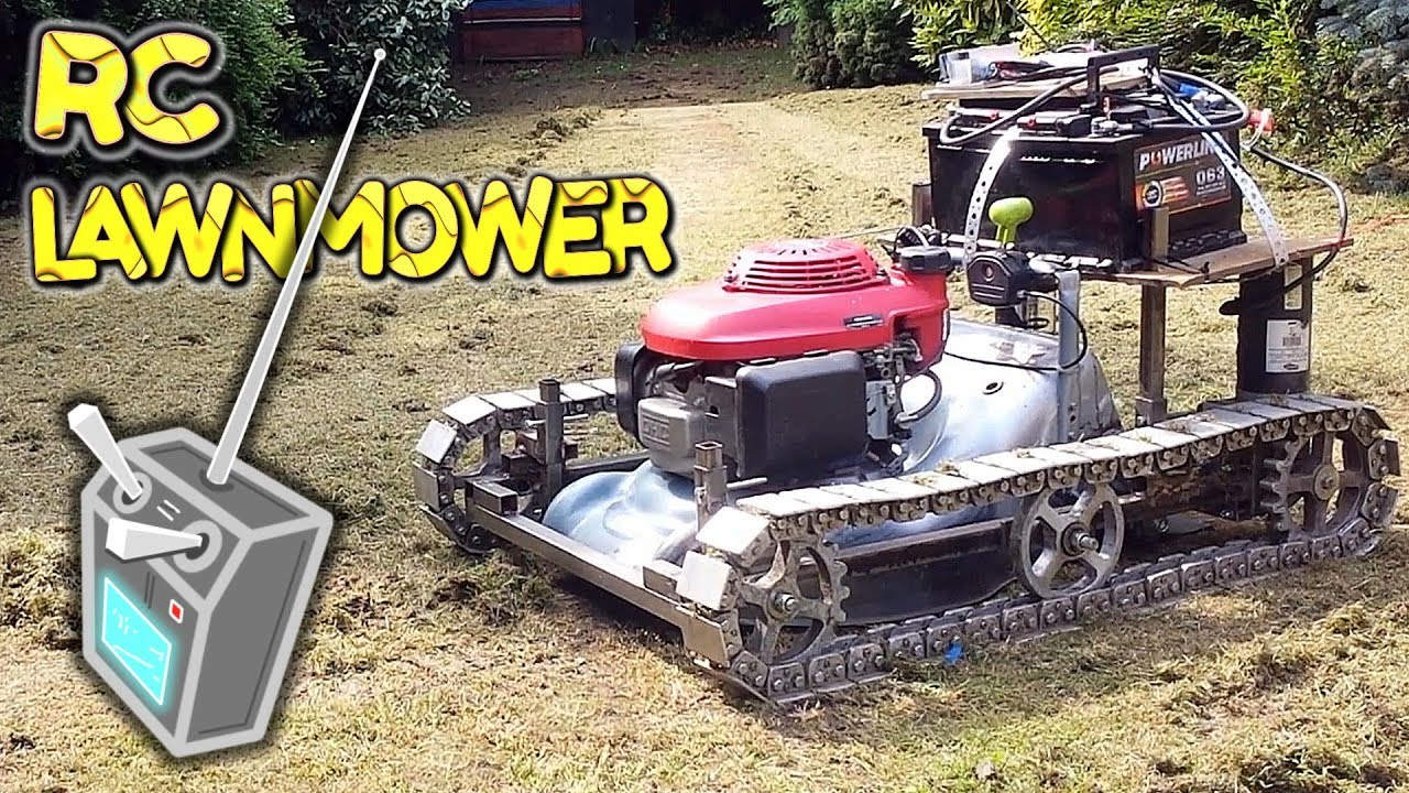 Radio Control Lawn Mower With Tank Tracks A Build By