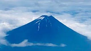 【SKY183】上空から見えた今朝の富士山 '210620