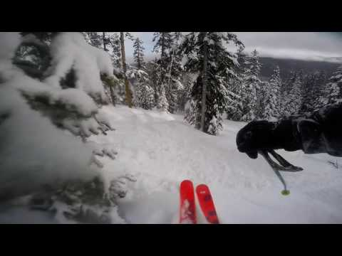 1-12-17 Great Powder Day Winter Park Mary Jane Pillows and Cliffs Galore! Gopro 4