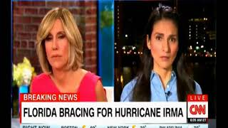CNN Morning Show coverage of Hurricane Irma one of the Strongest storms ever hits the Caribbean and