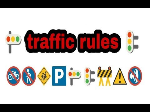 rules of traffic in hindi