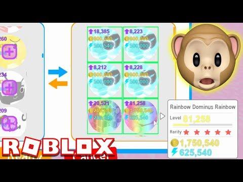 RAINBOW DOMINUS RAINBOW!!   Pet Simulator   ROBLOX