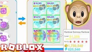 RAINBOW DOMINUS RAINBOW!! | Pet Simulator | ROBLOX