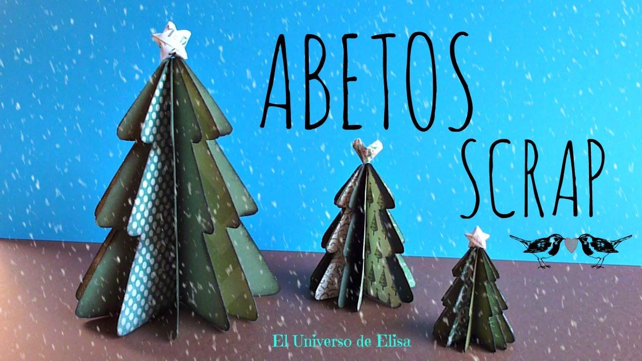 C mo hacer un abeto scrap manualidades para navidad - Como hacer un centro de navidad ...