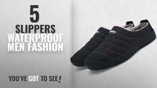 Top 10 Slippers Waterproof [Men Fashion Winter 2018 ]: welltree Women Men Indoor Outdoor Slippers