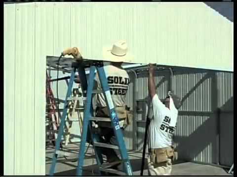 Metal Building Installation Step 17 Door & Window Trim