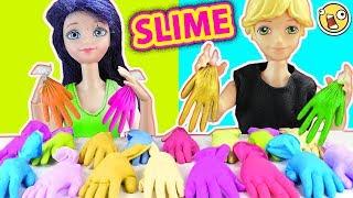 NO Escojas el Guante de Slime Equivocado Challenge con Marinette y Adrien