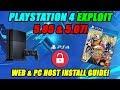 PLAYSTATION 4 EXPLOIT 5.05 & 5.07! MIRA HEN WEB & PC HOST INSTALL GUIDE!