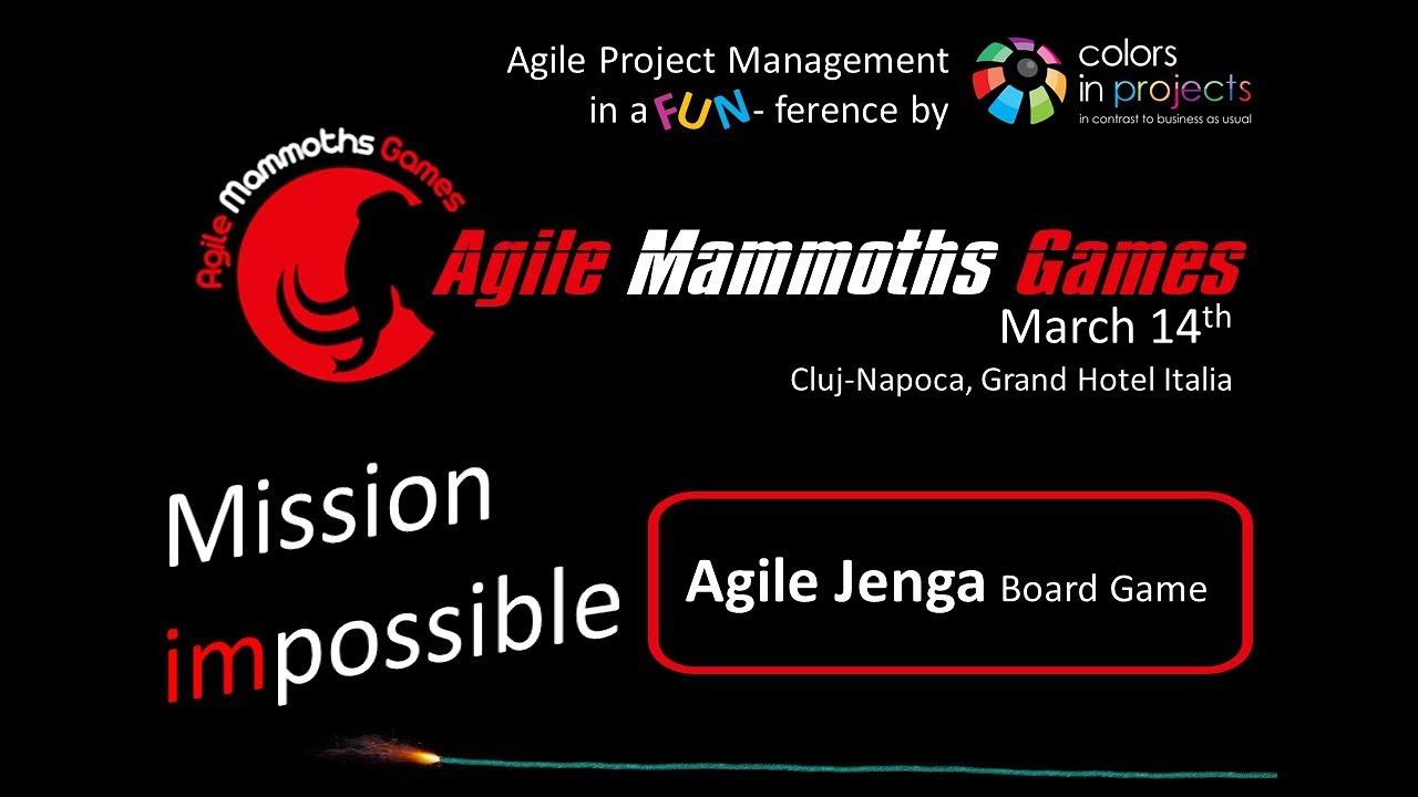 Agile Fun Games misiune amg - agile jenga game