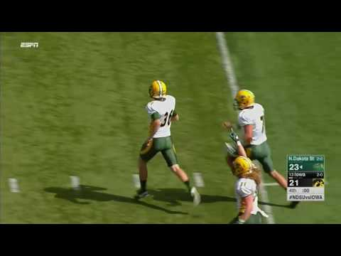 North Dakota State Stuns Iowa with Last-Second Field Goal