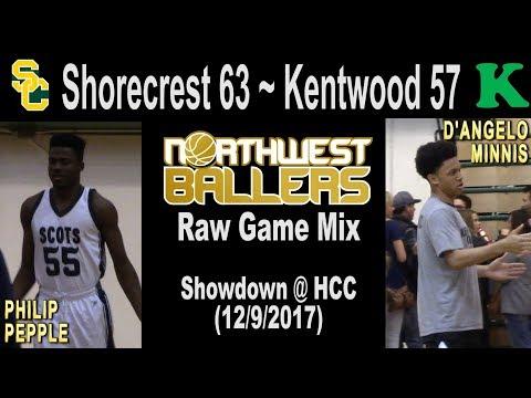 Shorecrest 63 - Kentwood 57 at Highline CC (12/9/2017) - raw highlights