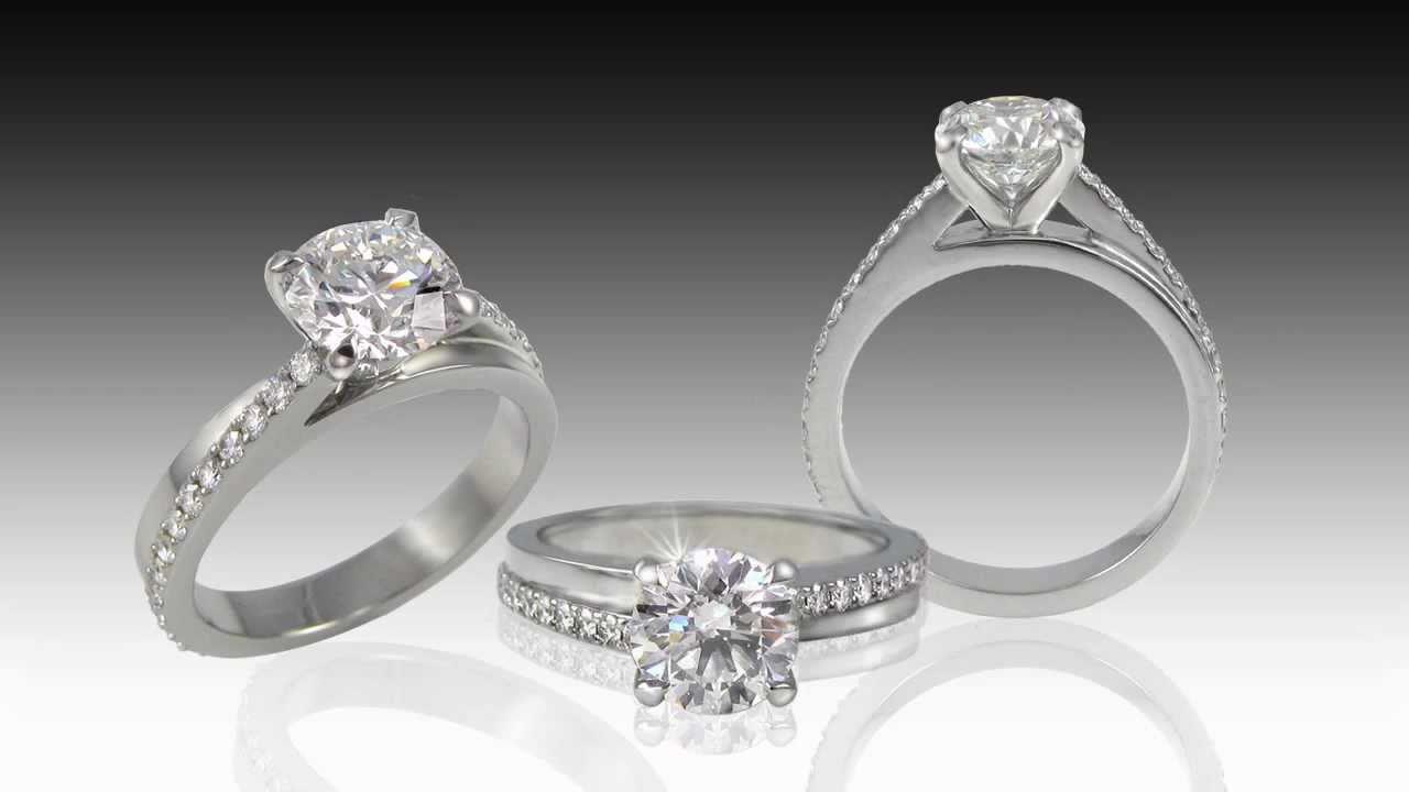 Custom Designed Engagement Ring  Russian Brilliants®  The Best Simulated  Diamond