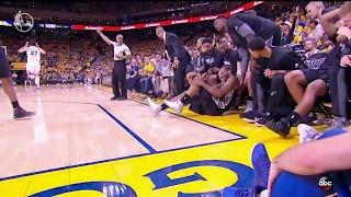 Kawhi Leonard Re-Injures Ankle   Spurs vs Warriors   Game 1   May 14, 2017   NBA Playoffs