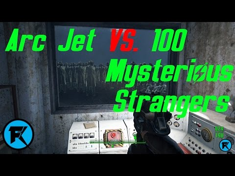 Fallout 4 | Arc Jet vs. Liberty Prime + 100 Mysterious Stranger's