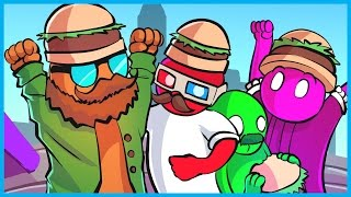 Gang Beasts Funny Moments! - Cheeseburger Squad, Funniest Clip Ever, and Best Player Ever!