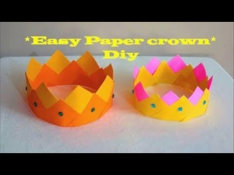 How to make an easy Paper Crown ~ Diy ~ Steps /Tutorial.