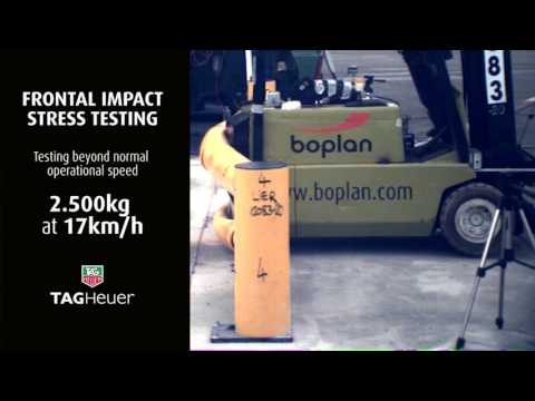 BOPLAN - Flex Impact® safety barrier certified stress testing