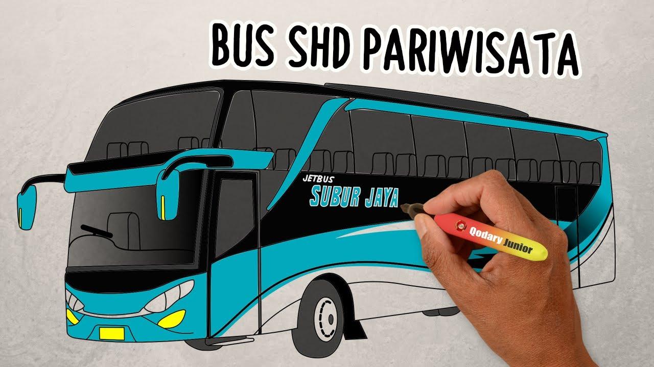 Cara Menggambar BUS SHD Subur Jaya