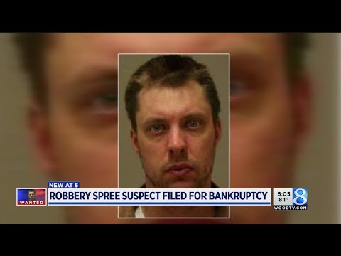 Robbery spree suspect filed for bankruptcy