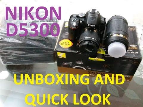 NIKON D 5300 DSLR CAMERA UnBoxing and Quick Look || HINDI||