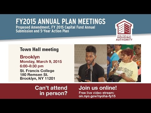 Town Hall on Amendment to FY2015 Annual Plan - Brooklyn