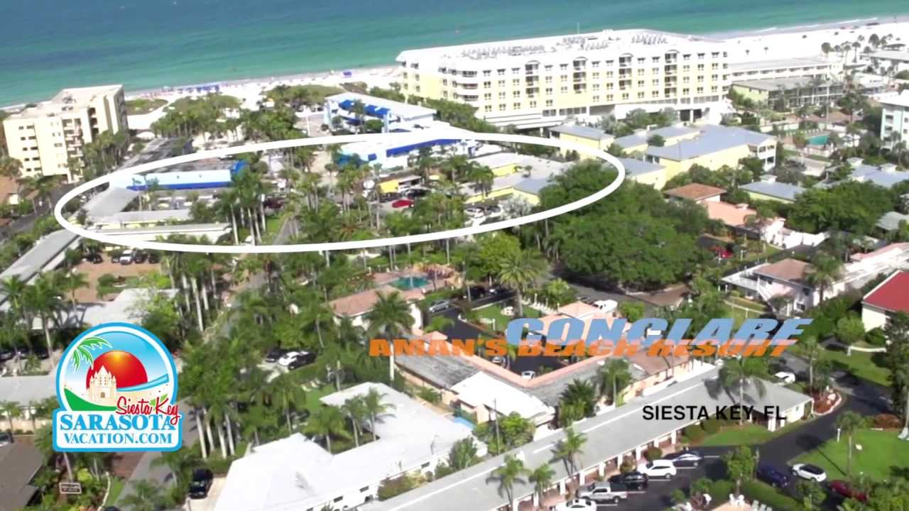 conclare aman's beach resort on siesta key video - youtube