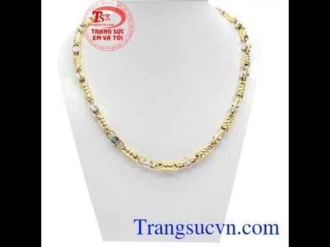Dây chuyền nam thời trang, dây chuyền nam vàng tây, Gold Necklace, TSVN018946