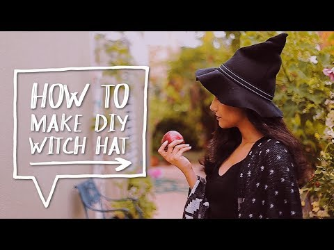 ???? DIY HALLOWEEN COSTUME | How To Make A DIY Witch Hat For A Halloween! ✨Alejandra's Styles