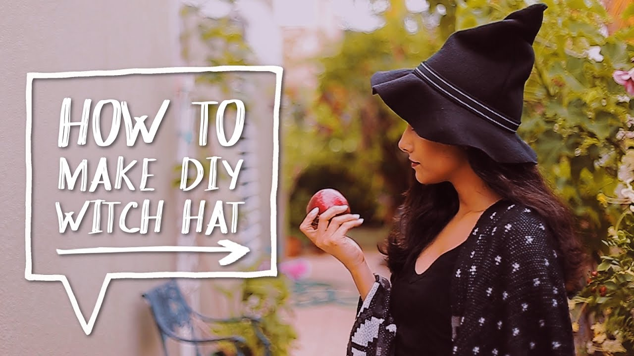 DIY HALLOWEEN COSTUME | How to Make a DIY Witch Hat for a ...