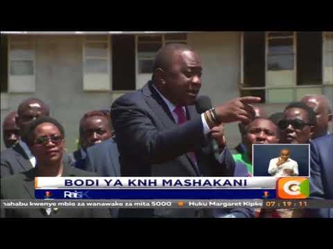 Rais ajionea utepetevu hospitalini Kenyatta