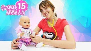 Vidéo en français de bébé born Emily. Show - Comme maman - № 15 :  jeu au docteur pour enfants