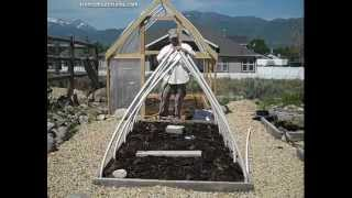 How to Build a Small, Portable A-Frame Greenhouse with PVC Pipe & Plastic Sheeting