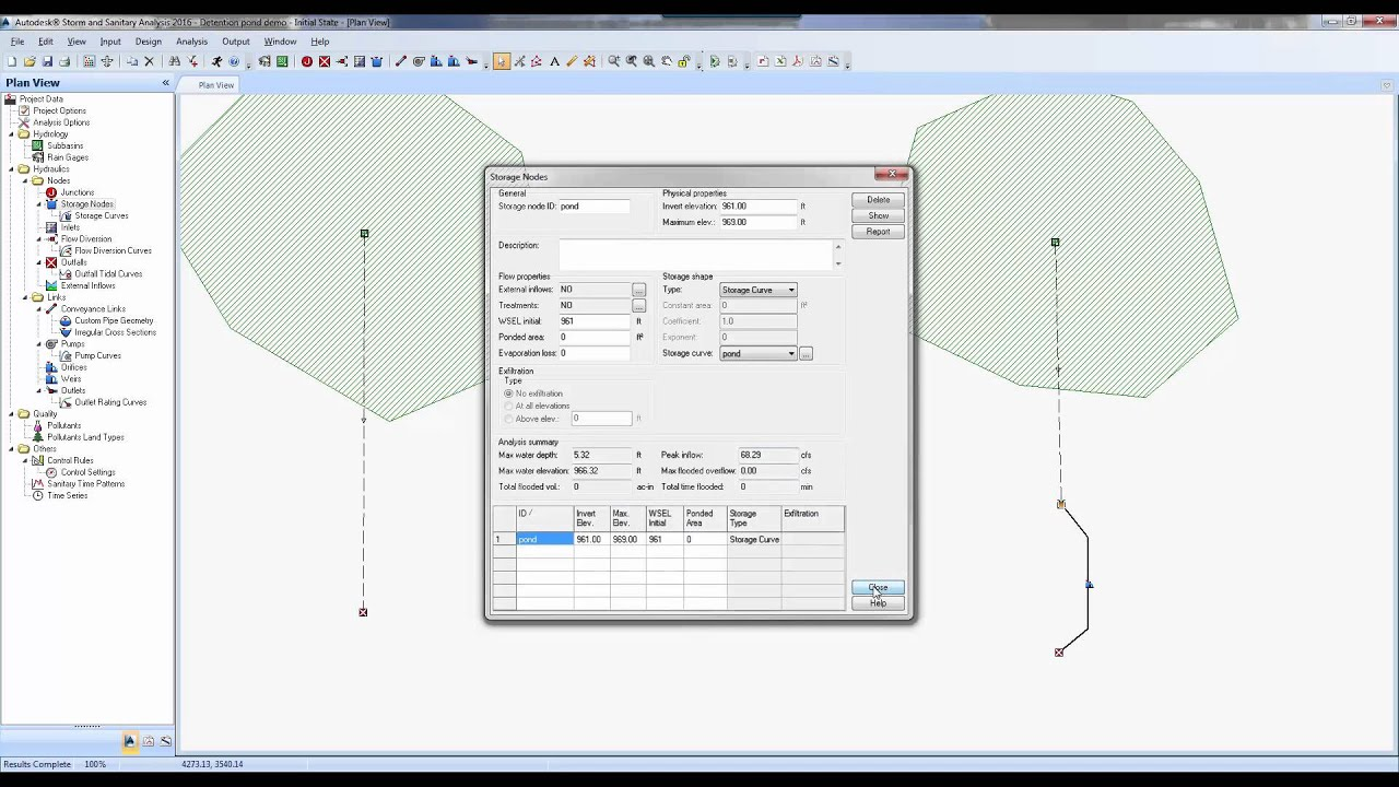 Civil 3d and ssa workflow detention pond design workflow for Pond design in civil 3d