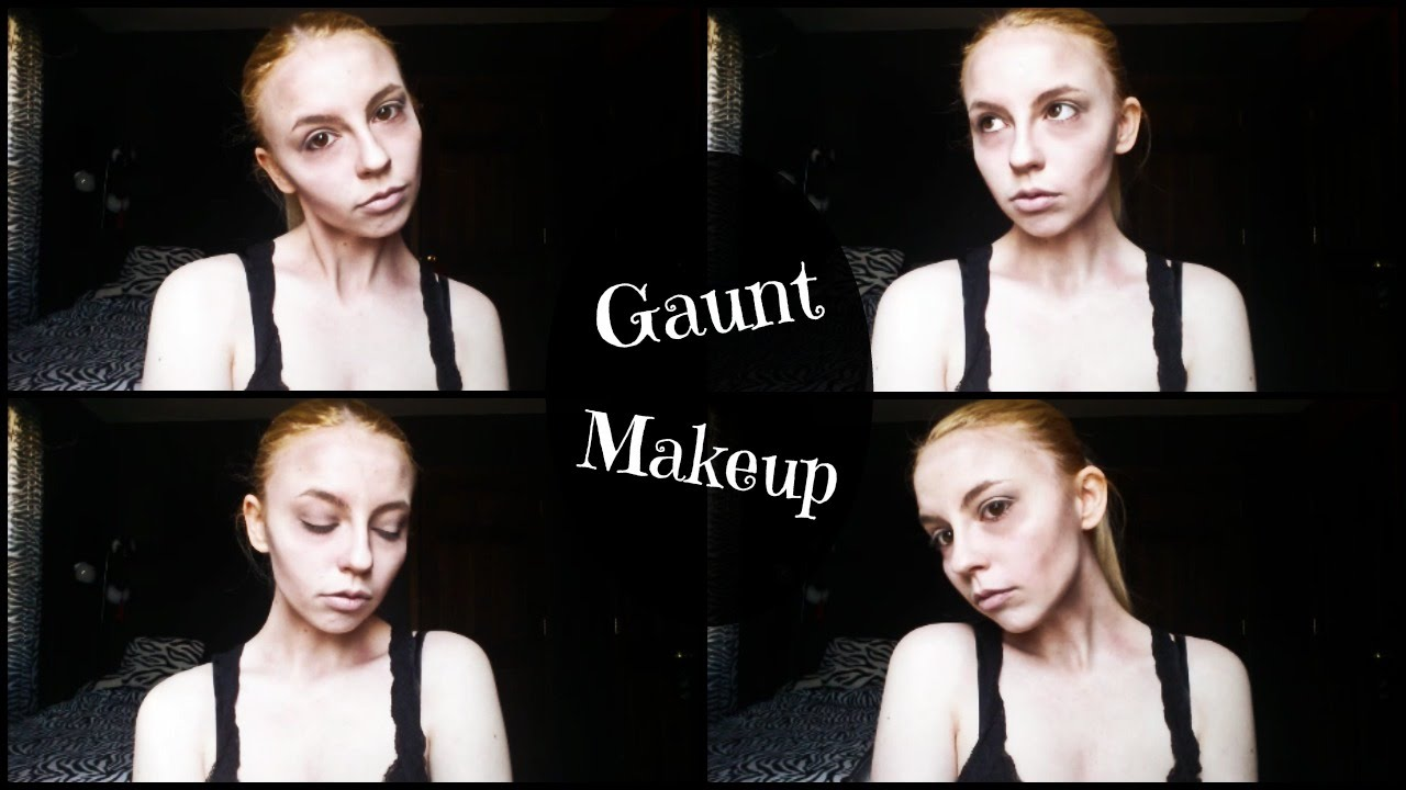 Gaunt facial features