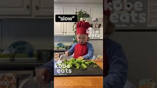CHEF KOBE MAKES CHEESY BROCCOLI MUFFINS