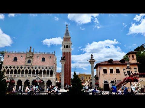 EPCOT Italy Pavilion Tour & Walkthrough in 4K | EPCOT World Showcase Walt Disney World Florida 2021