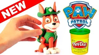 TRACKER New Paw Patrol Pup stop motion play doh claymation animation video patrulla canina