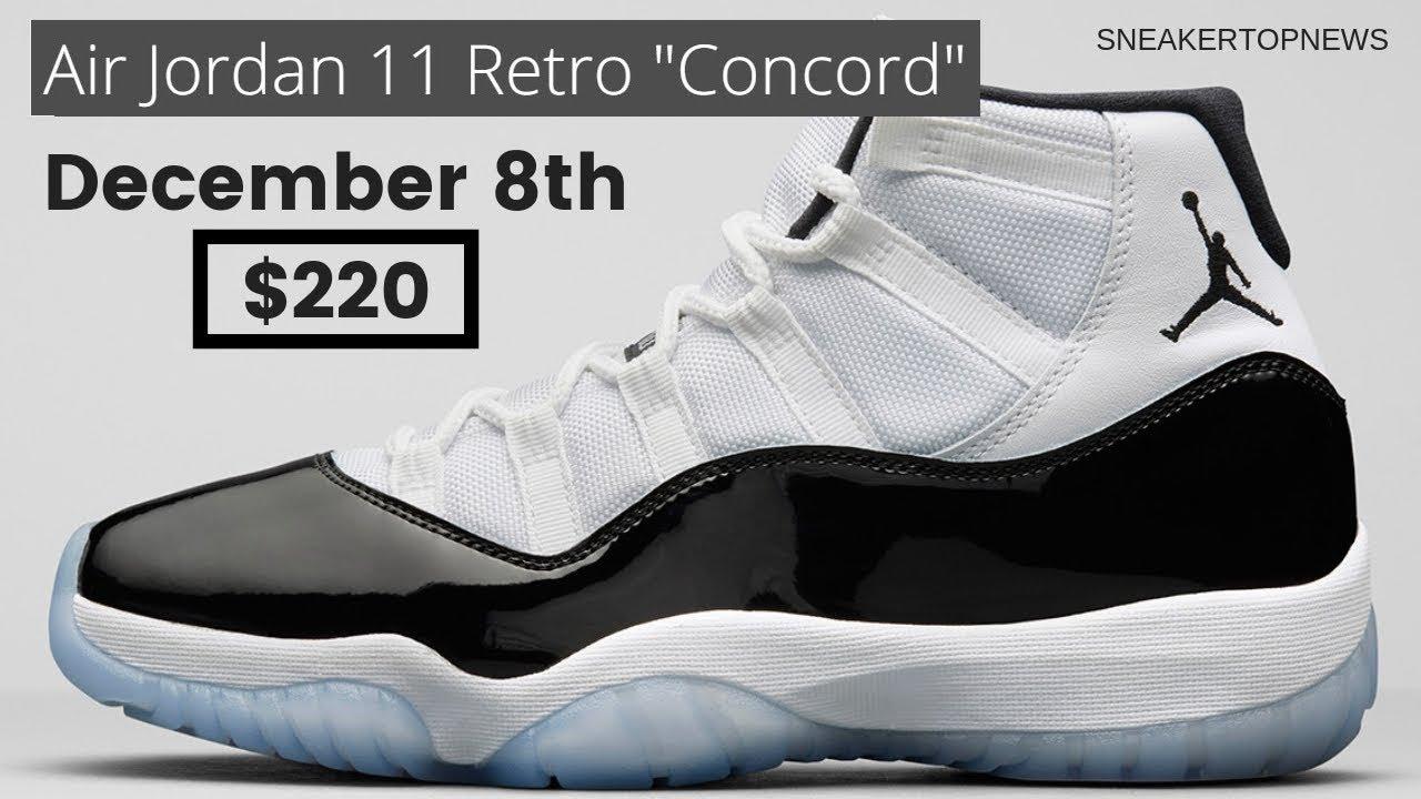 "reputable site 70aba f90bf The Air Jordan 11 ""Concord"" 2018 Retro Release Date December 8th, 2018"