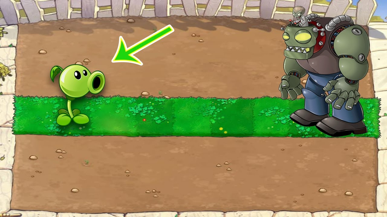 Peashooter vs Gargantuar, Dr. Zomboss  vs Zombies PvZ | Plants vs Zombies Battlez