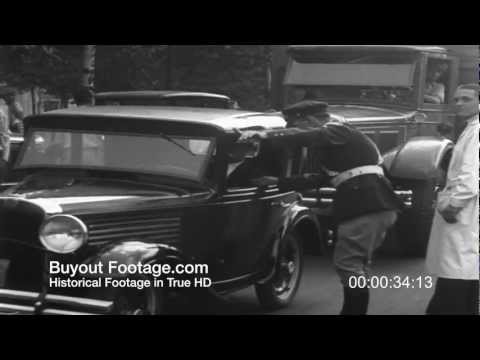 hd stock footage auto club vehicle safety inspections 1930 s newsreel bike tie down. Black Bedroom Furniture Sets. Home Design Ideas