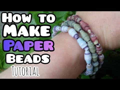 How to Make Paper Beads [self striping]