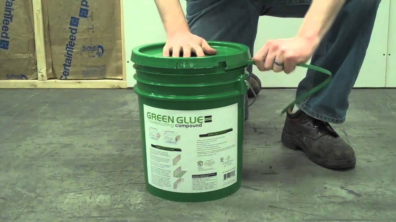 Applying Green Glue Noiseproofing Compound From A 5-Gallon