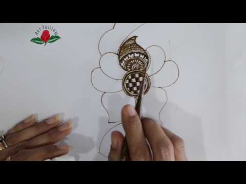 practice 6: Practice and learn  simple rajvadi  style motif  mehendi design :Hindi