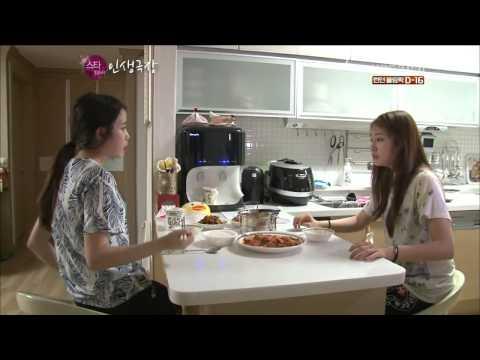 T-ARA - IU visits Jiyeon at her home