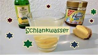 Schlankwasser aus Zitrone und Ingwer!