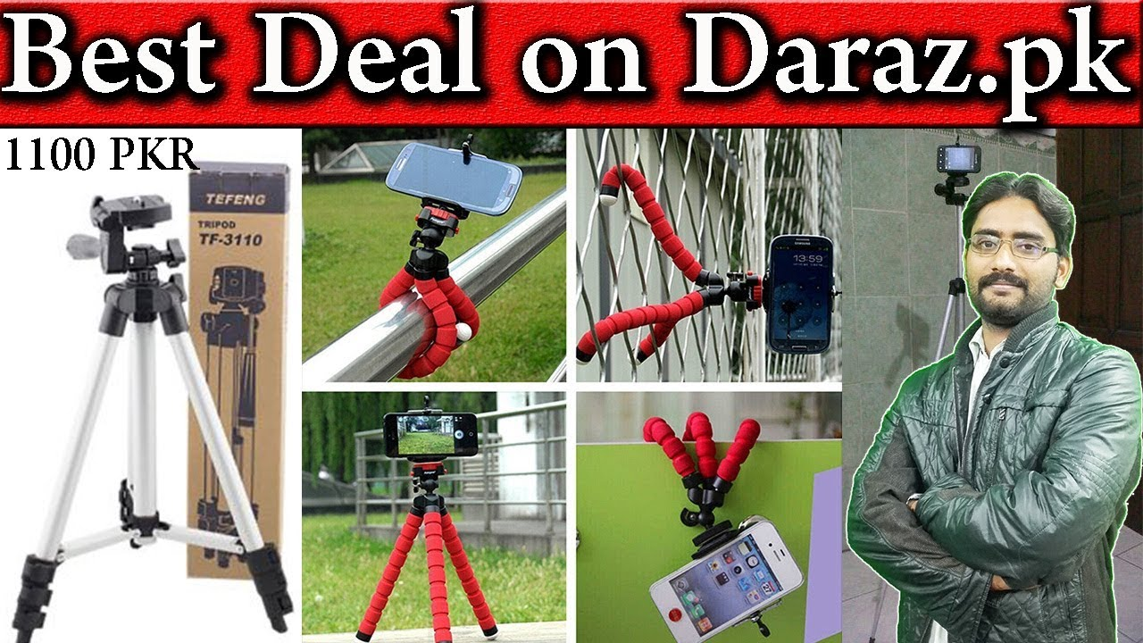 best deal on only 1100 pkr tripod stand for camera youtube. Black Bedroom Furniture Sets. Home Design Ideas