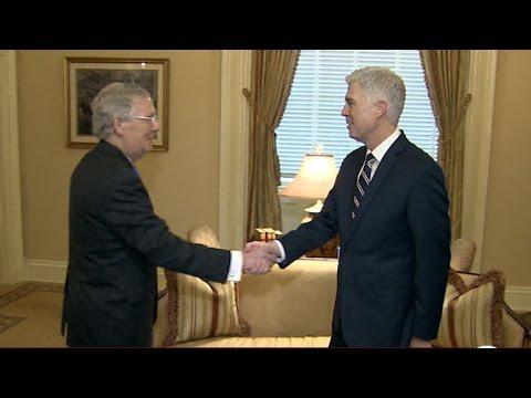 Neil Gorsuch meets with senators on Capitol Hill