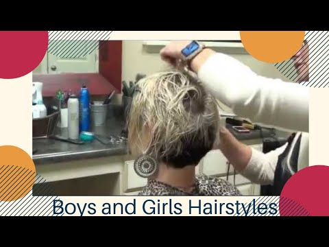 Womens Short Asymmetrical Hairstyles ( RaDona's New Haircut)