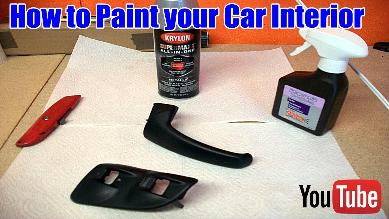 how to paint interior car trim youtube. Black Bedroom Furniture Sets. Home Design Ideas